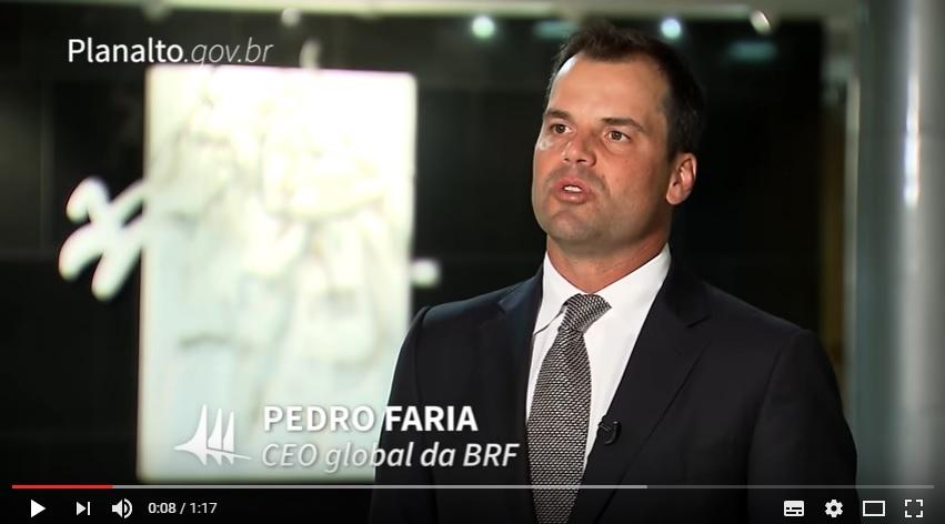 BRF apresenta planos de exportações para o presidente da República
