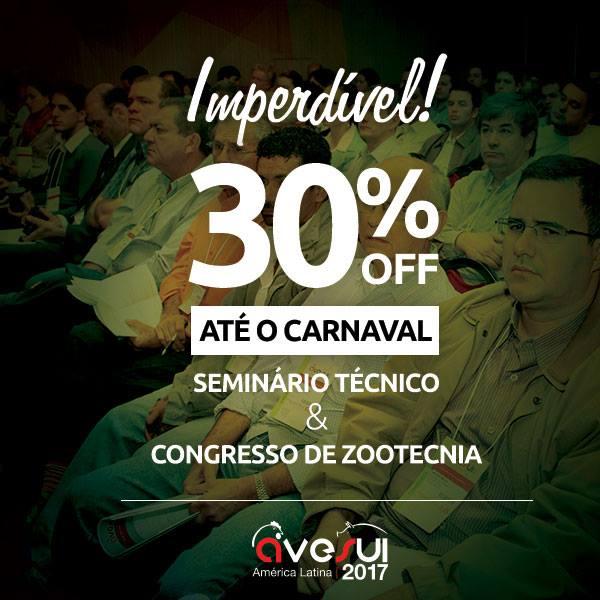 Inscrições para congressistas da AveSui com 30% OFF!