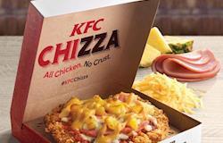 KFC cria a Chizza, que junta pizza e frango frito